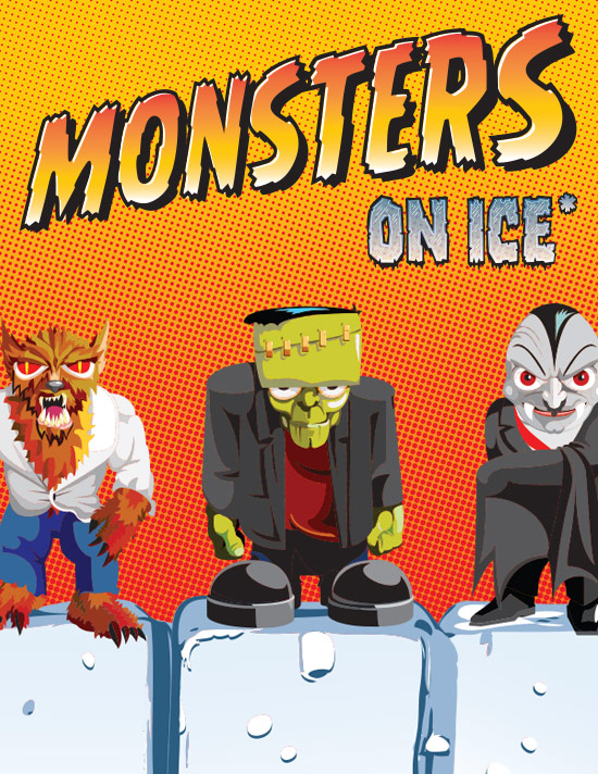 Monsters on ice tile 2