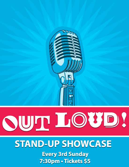 Out loud standup showcase tile