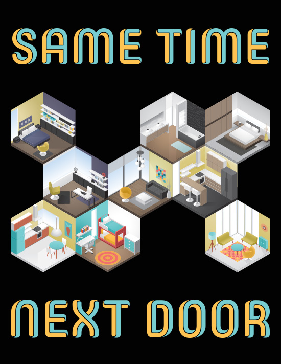 Same time next door tile