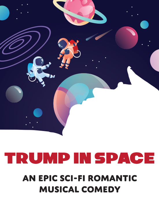 Trump in space sil tile 2